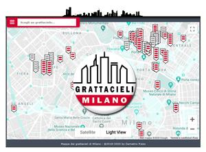 Mappa interattiva dei grattacieli di Milano