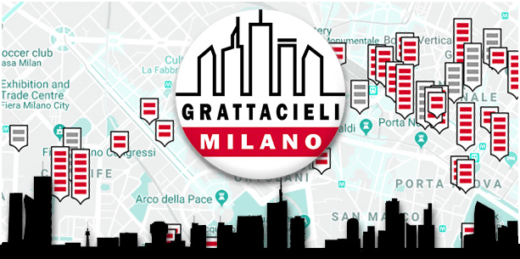Mappa dei Grattacieli di Milano