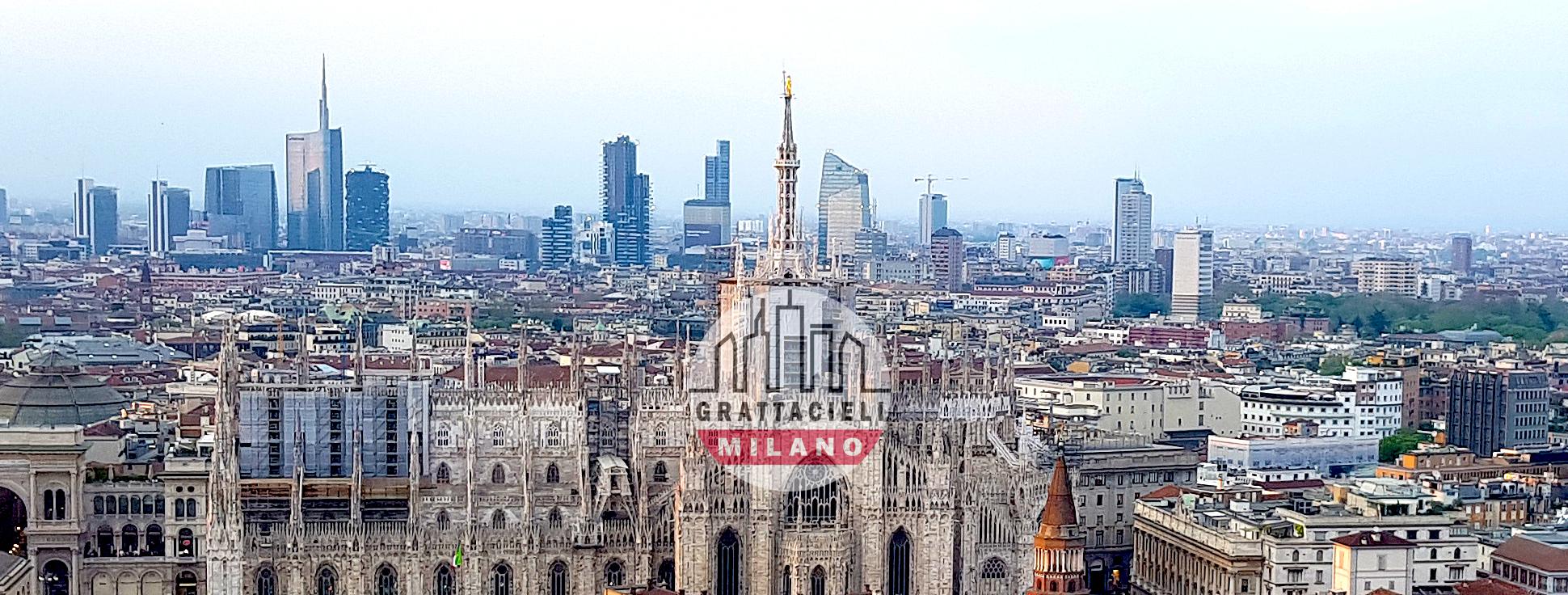 Vista dello Skyline di Milano dall'attico di Torre Velasca. ©2019 Demetrio Rizzo