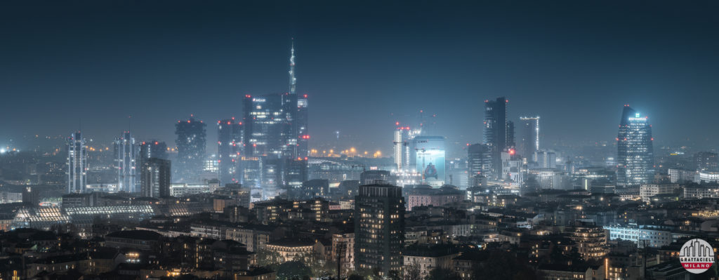 Skyline di Milano, zona Porta Nuova. ©2019 Ludovico Balena