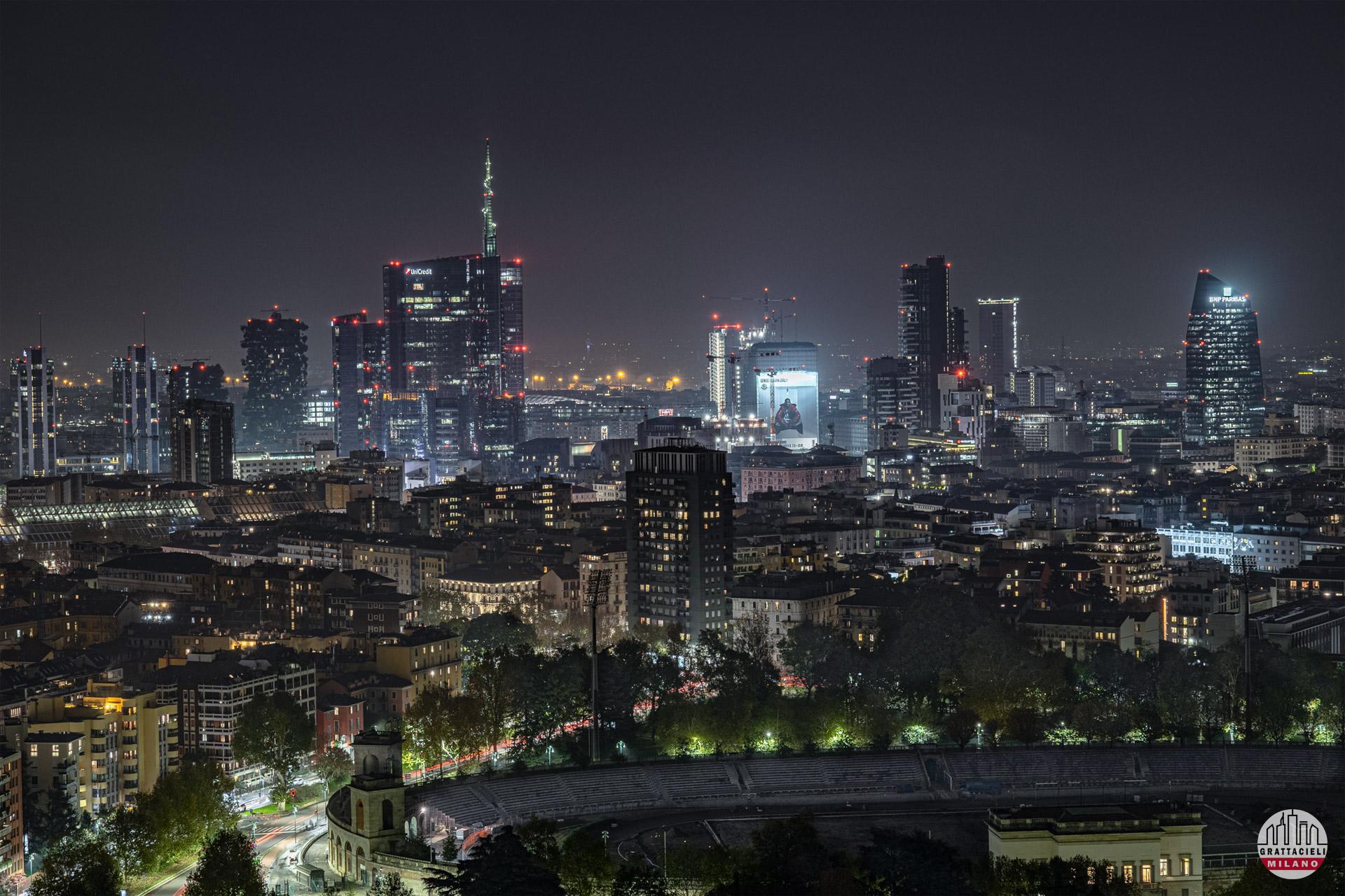 Skyline di Milano, visto da Torre Branca - ©2019 Stefano Pavan