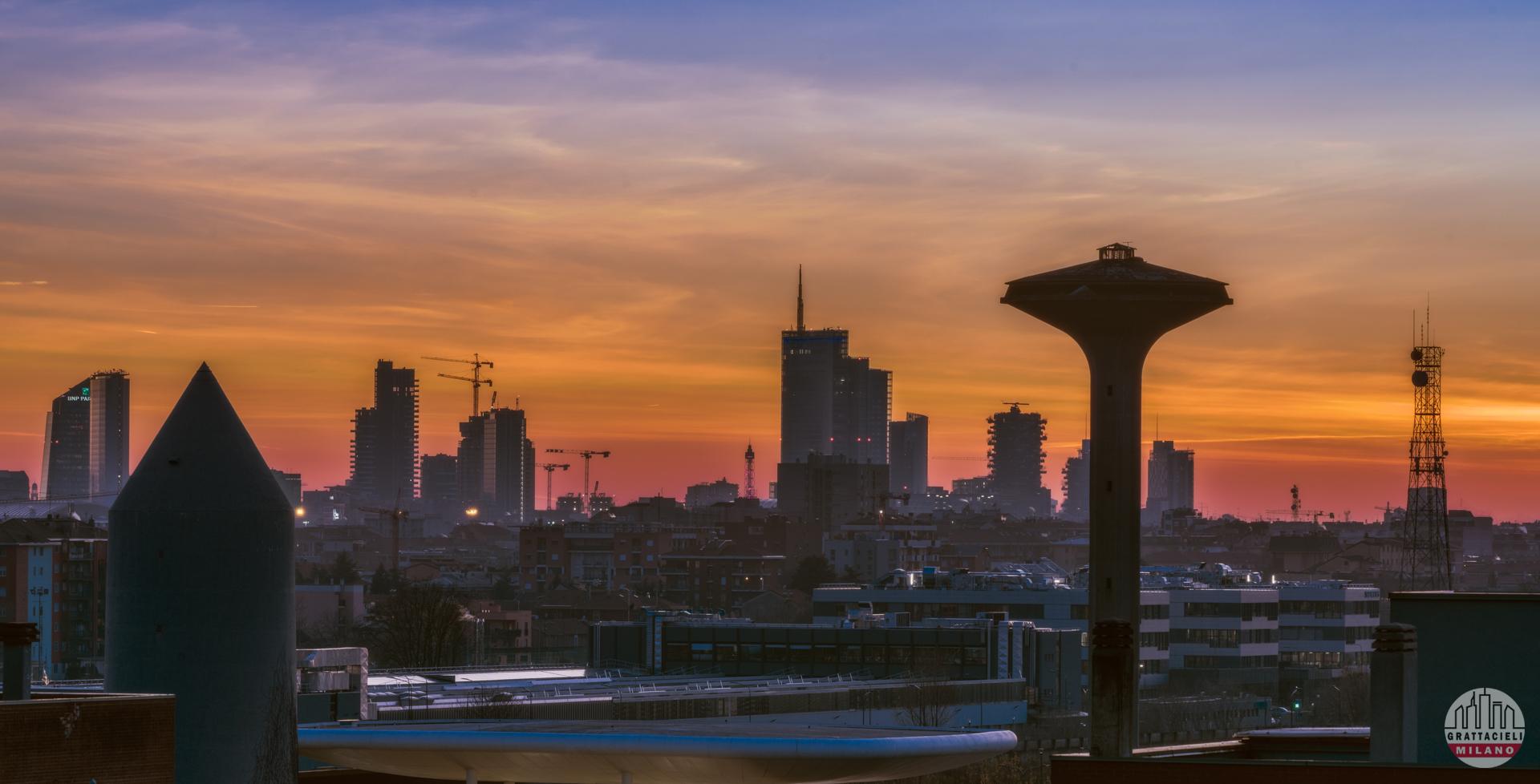 Skyline di Milano, visto da quartiere Adriano - ©2019 Roberto Bellini
