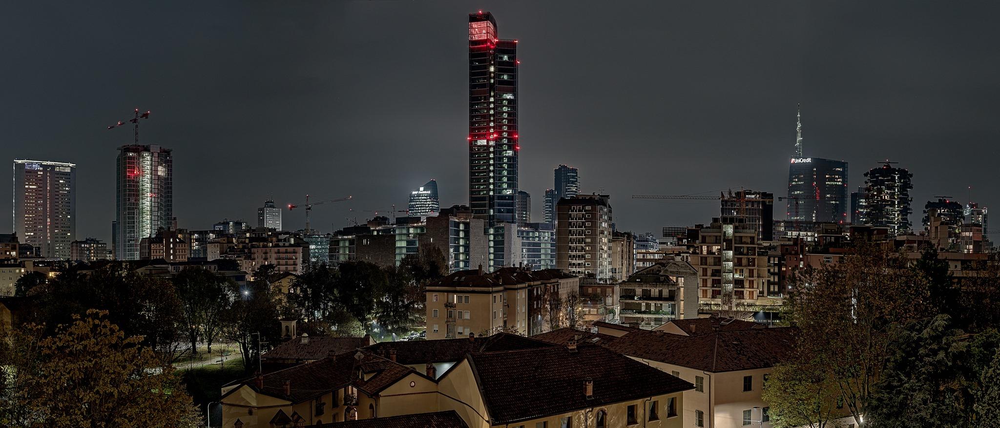 Skyline di Milano, visto da quartiere Abbadesse - ©2019 Enrico Oggioni