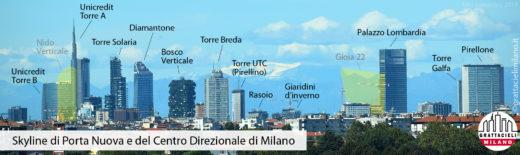 Skyline di Milano - Zona Porta Nuova - ©2019 Demetrio Rizzo
